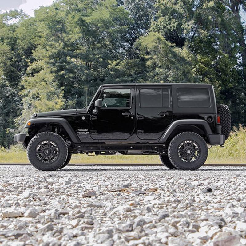 rough country suspension lift kit 2007 2018 jeep wrangler jk unlimited dale 39 s super store. Black Bedroom Furniture Sets. Home Design Ideas