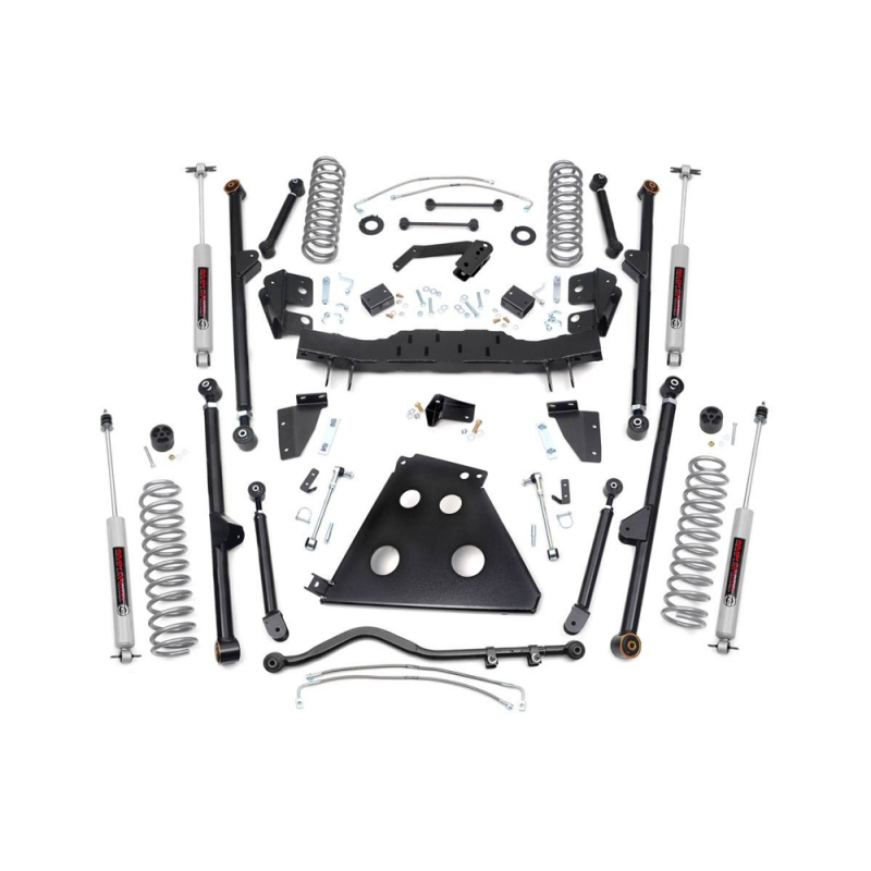 Jeep Grand Cherokee Lift Kit >> Rough Country 4in Long Arm Suspension Lift Kit   2012-2018 ...