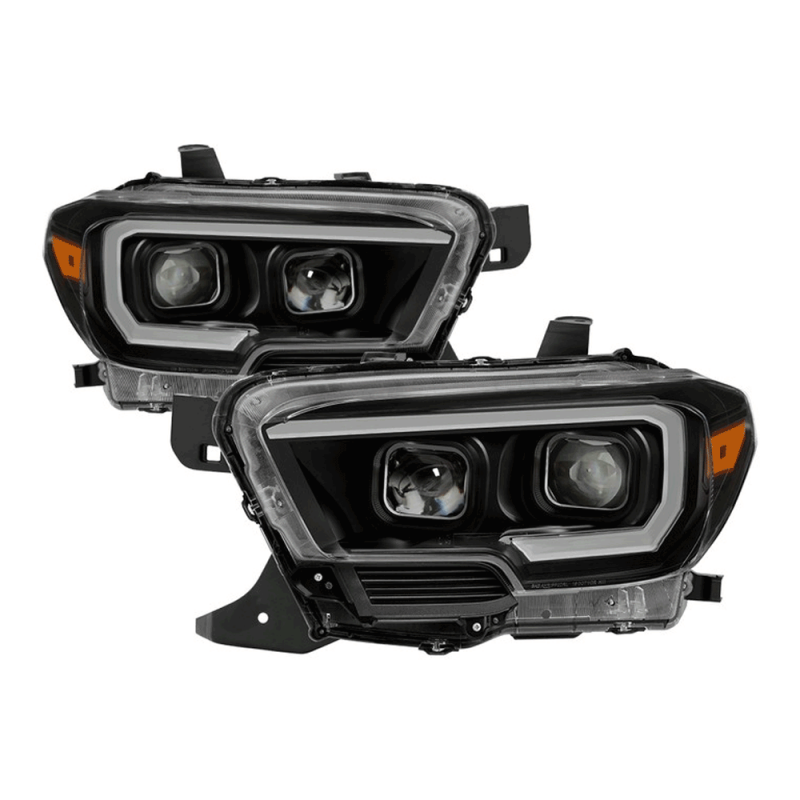Spyder® Black Projector Headlights w/DRL Light Bar