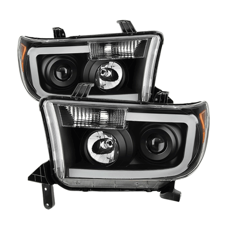 Spyder® Black Projector Headlights w/LED U-Bar | 2007-2013