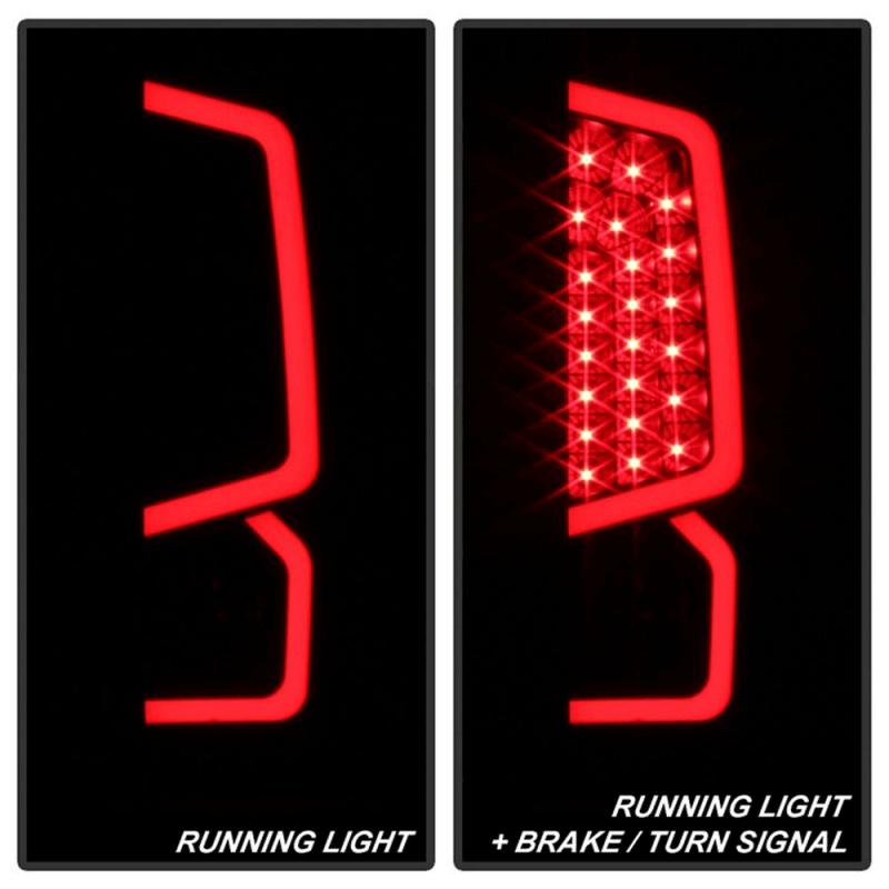 spyder black smoke led tail lights 2014 2018 toyota tundra Nissan Tail Light Cover spyder black smoke led tail lights