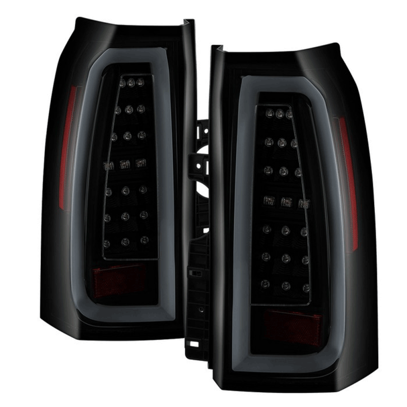 Spyder Black Smoke Led Tail Lights 2017 Chevy Suburban Tahoe