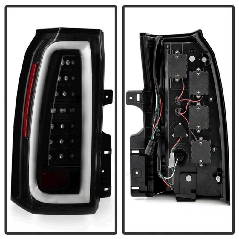 Spyder 174 Black Led Tail Lights 2015 2017 Chevy Suburban
