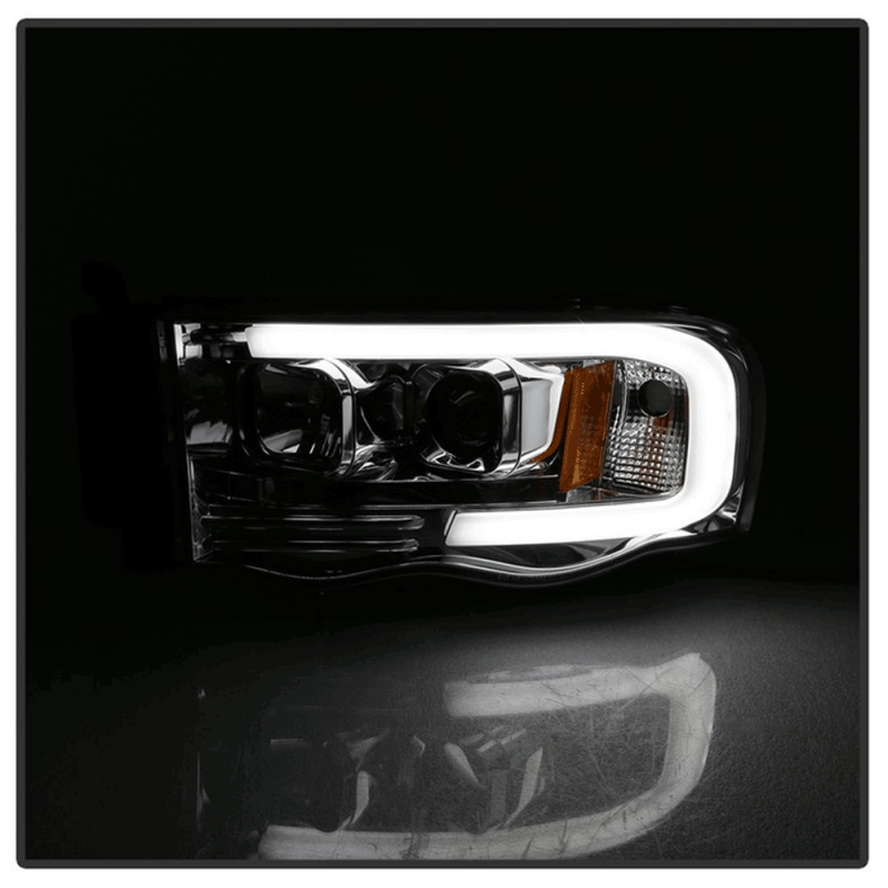 Spyder® Chrome LED DRL Bar Projector Headlights | 2002-2005