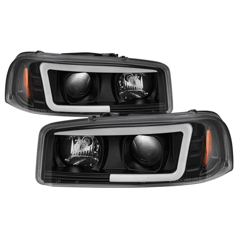 Spyder® Black LED DRL Bar Projector Headlights