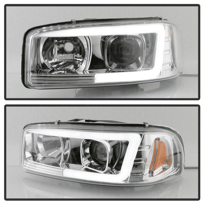 Spyder® Chrome LED DRL Bar Projector Headlights