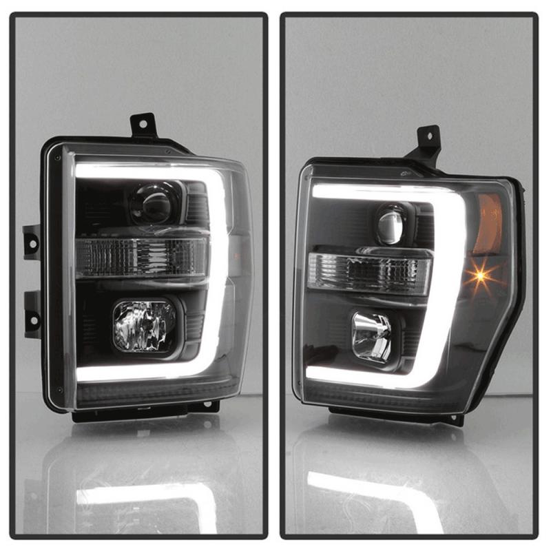 Spyder® Black LED DRL Bar Projector Headlights | 2008-2010 ...