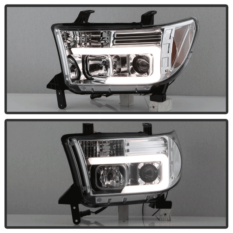 Spyder® Chrome LED DRL Bar Projector Headlights | 2007-2013