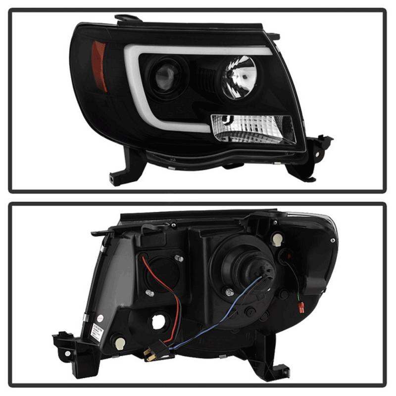 Spyder 174 Black Led Drl Bar Projector Headlights 2005 2011