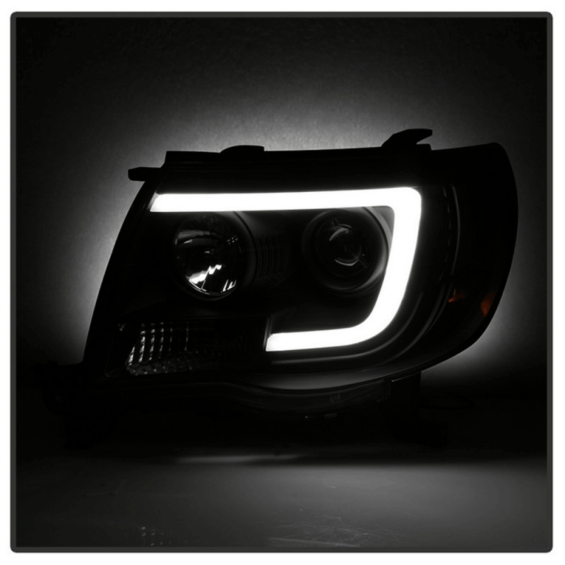 Spyder Black Led Drl Bar Projector Headlights