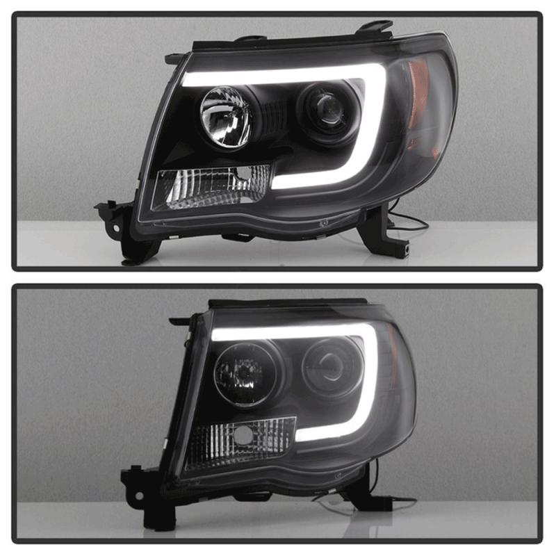 Spyder U00ae Black Led Drl Bar Projector Headlights