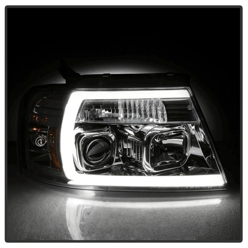 Spyder® Chrome LED U-Bar Projector Headlights | 2004-2008