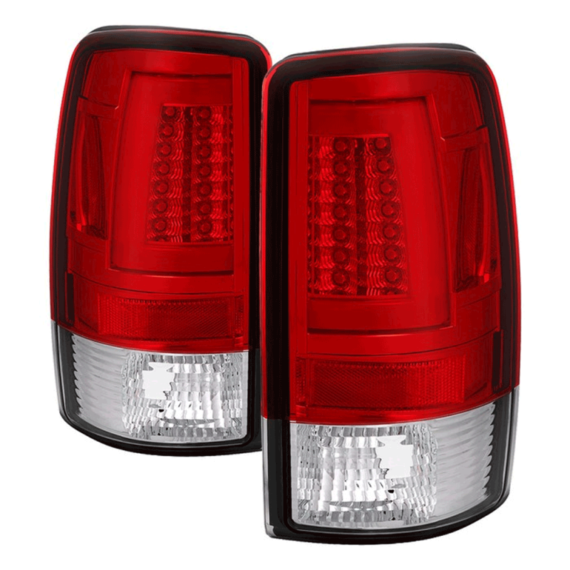 Spyder® Chrome/Red LED Tail Lights | 2000-2006 Chevy/GMC ...