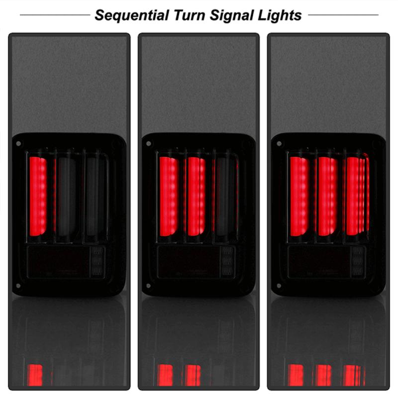 Spyder 174 Black Smoke Sequential Fiber Optic Led Tail Lights