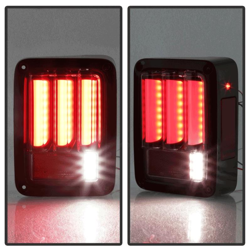 Spyder U00ae Black  Red Sequential Fiber Optic Led Tail Lights