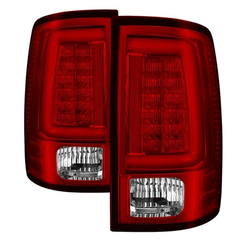Spyder 174 Chrome Red Fiber Optic Led Tail Lights 2013 2018