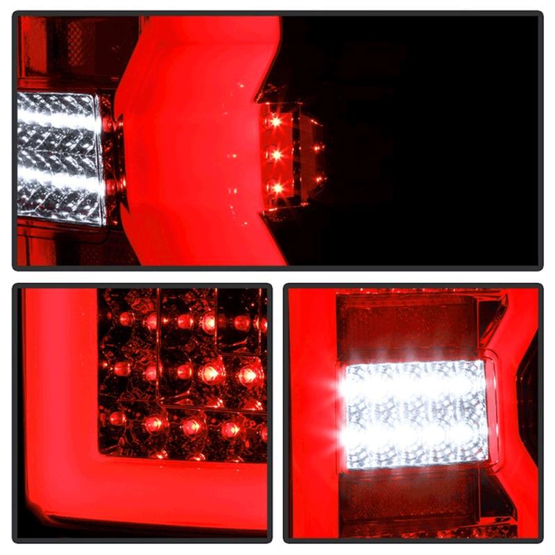 Spyder® Red/Clear Fiber Optic LED Tail Lights | 2015-2018 ...