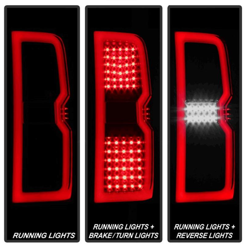 Spyder 174 Black Smoke Fiber Optic Led Tail Lights 2015