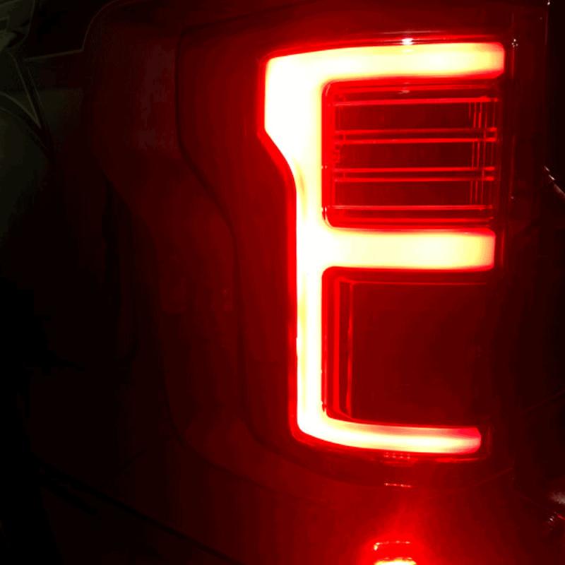Recon Black Smoke Fiber Optic Led Tail Lights 2017 Ford F 150 Dale S Super