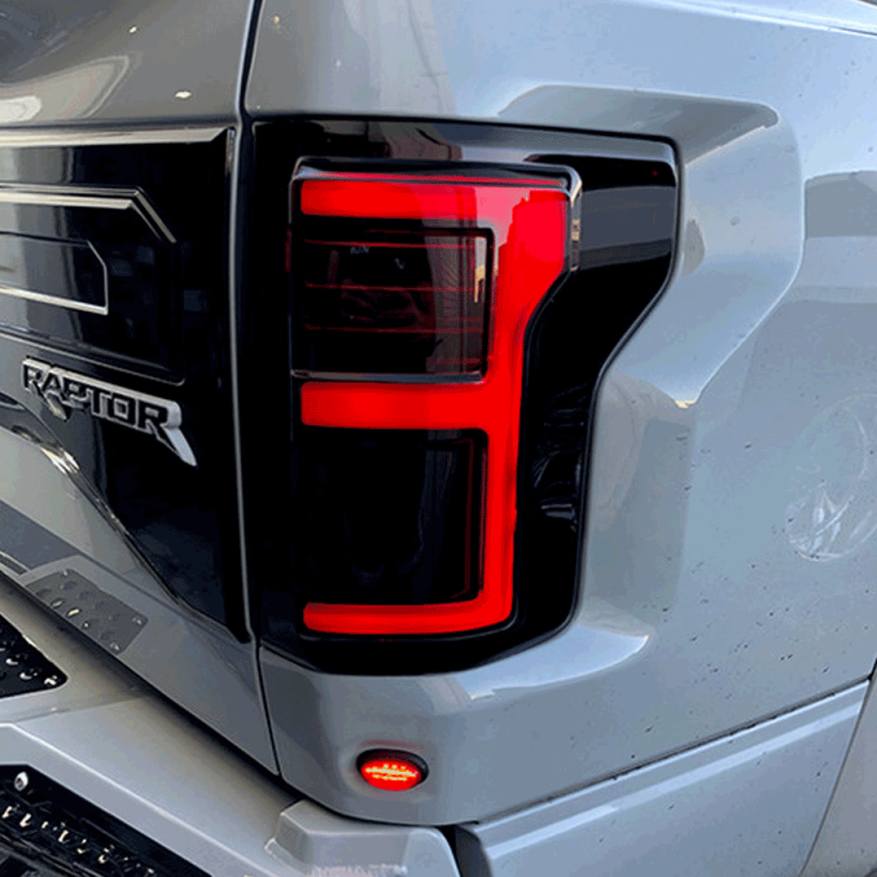 RECON Black/Smoke Fiber Optic LED Tail Lights | 2015-2017 Ford F-150 | Dale's Super Store