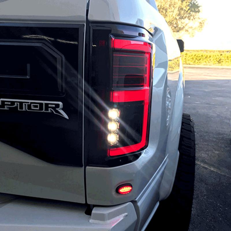 Recon Black Smoke Fiber Optic Led Tail Lights 2015 2017