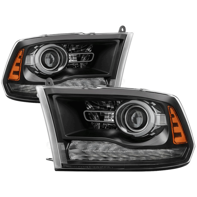 Spyder Black Factory Style Projector Headlights W Led Turn Signal 2017 Dodge