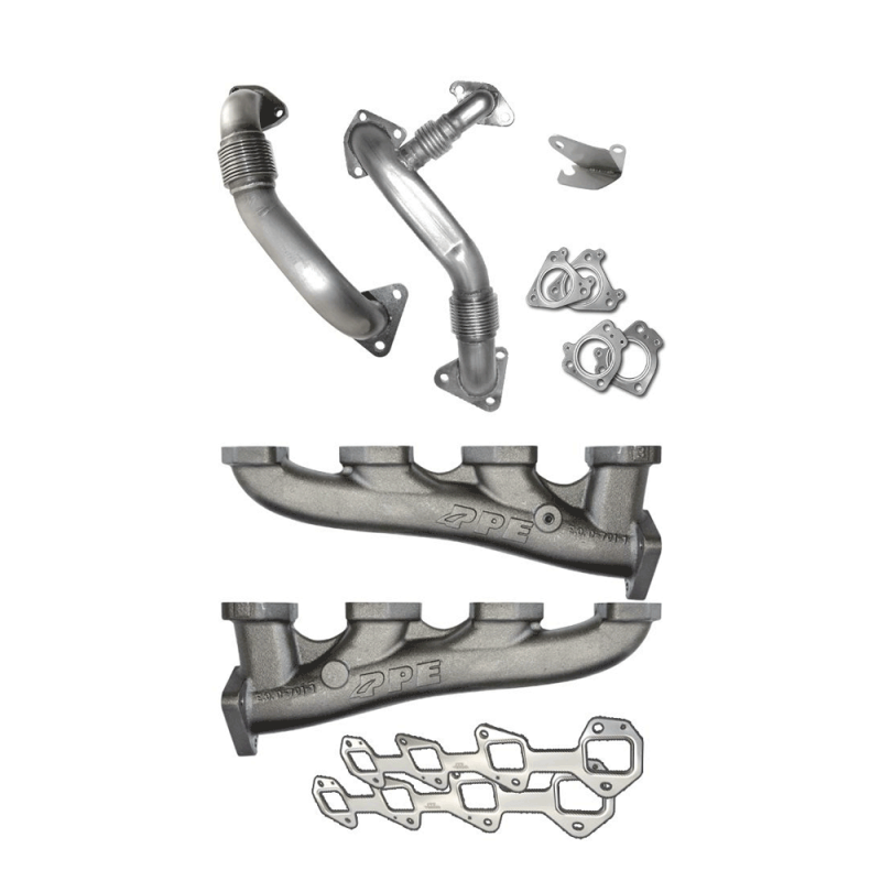 PPE High Flow Exhaust Manifolds & Up Pipes Kit | 2004.5-2005 Chevy/GMC Duramax LLY 6.6L | Dale's ...