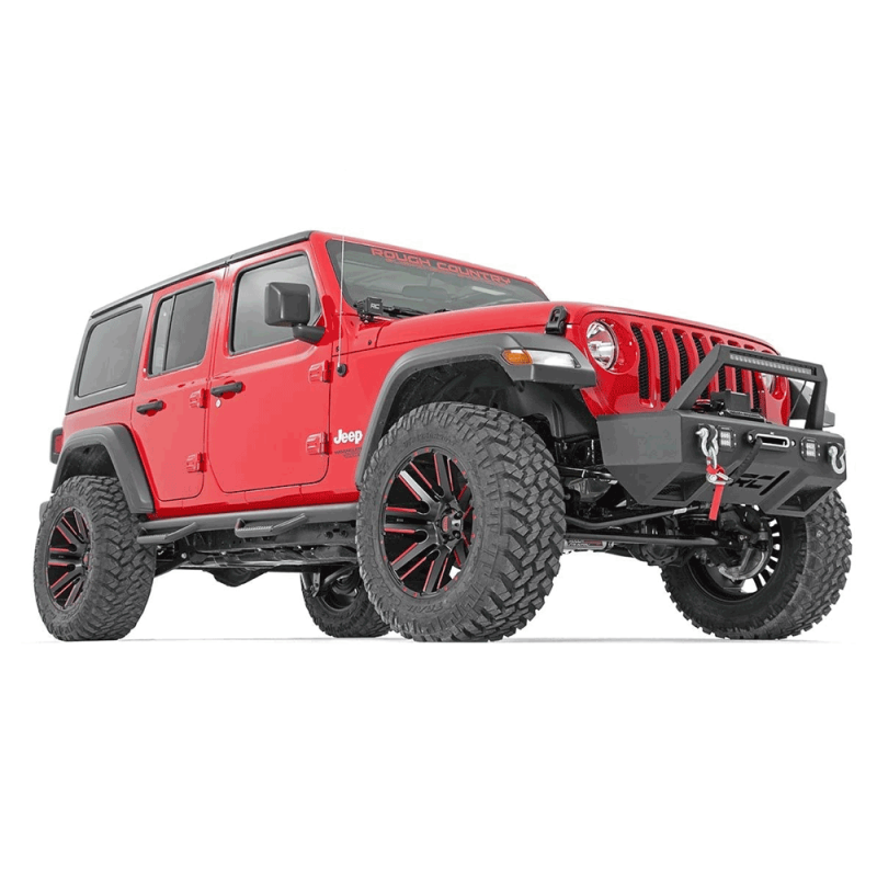 Rough Country Wheel to Wheel NERF Steps | 2018 Jeep ...