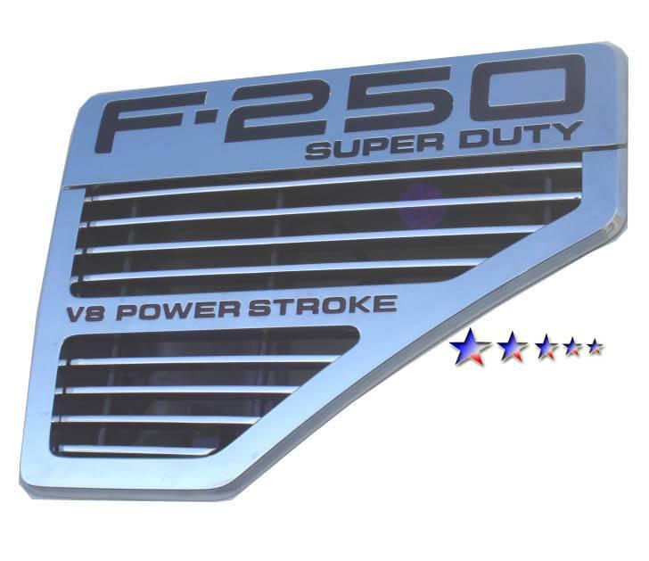 Power sport brushed aluminum car badge emblem decal sticker