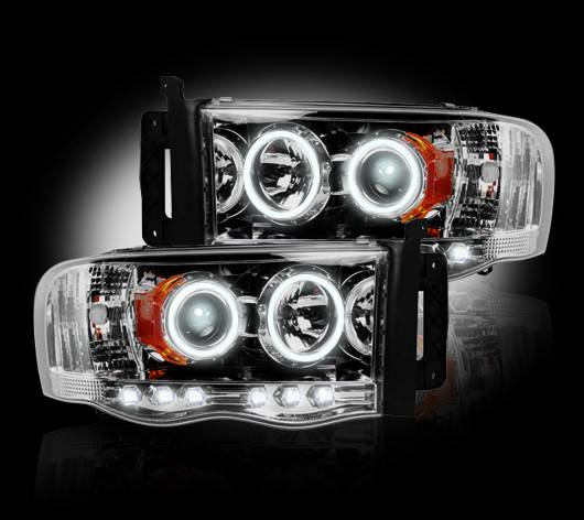 Recon 2002 2005 Ram 1500 03 05 2500 Clear Projector Headlights