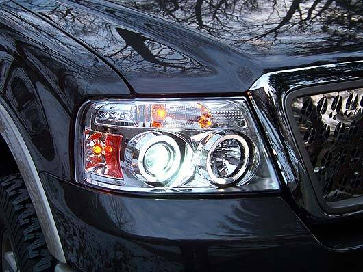 Recon 264198cl Clear Projector Headlights Ford F150 04