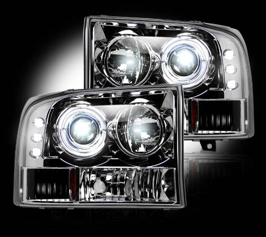 Recon 264192cl Clear Projector Headlights Ford Superduty
