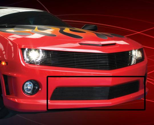 Chevy 2010-2011 Camaro SS (Bumper) Dale's Black Powder Coated Aluminum Billet Grille | C66742H