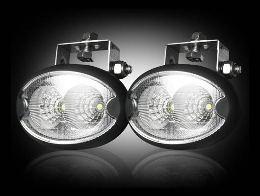 Led Elliptical Oval Driving Lights Complete Kit Chrome