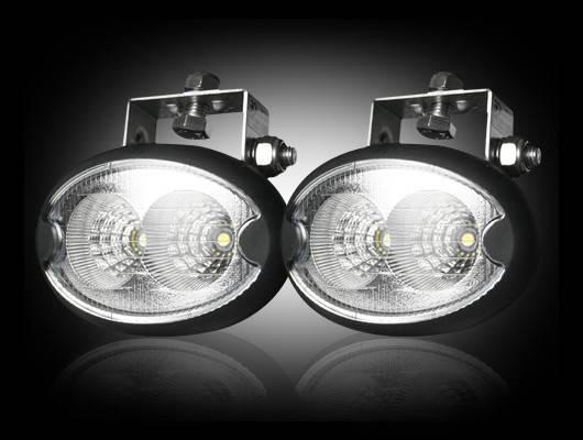 Led Elliptical Oval Driving Lights  Complete Kit  Chrome
