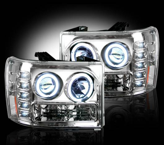 CLEAR Projector Headlights W/ CCFL Halos