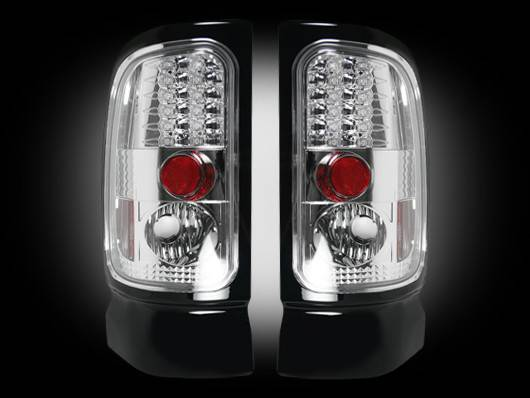 Recon 264170cl Led Tail Lights Clear 1994 2001 Dodge