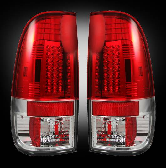 Recon 264172rd Led Tail Lights Red 1999 2007 Ford