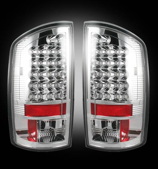 Recon 264171cl Led Tail Lights Clear 2002 2006 Dodge Ram