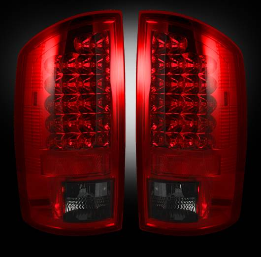 Recon 264171rbk Led Tail Lights Red Smoked 2002 2006 Dodge