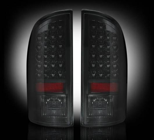 led tail lights smoked 2007 2008 dodge ram 1500 2007 2009 ram. Black Bedroom Furniture Sets. Home Design Ideas