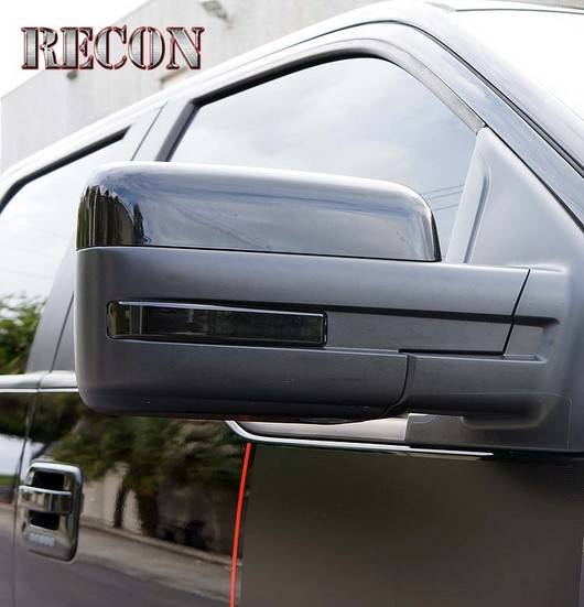 Recon 264240bk Side Mirror Lens Smoked For Ford F150 09 14