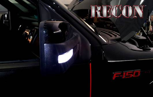 Recon 264240cl Led Side Mirror Lens Smoked For Ford
