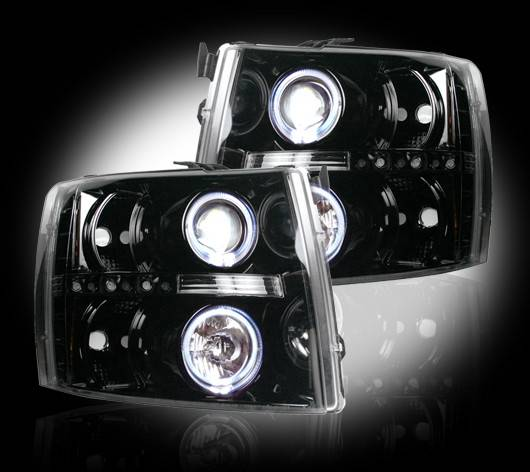 Smoked Projector Headlights W Ccfl Halos For 2007 13