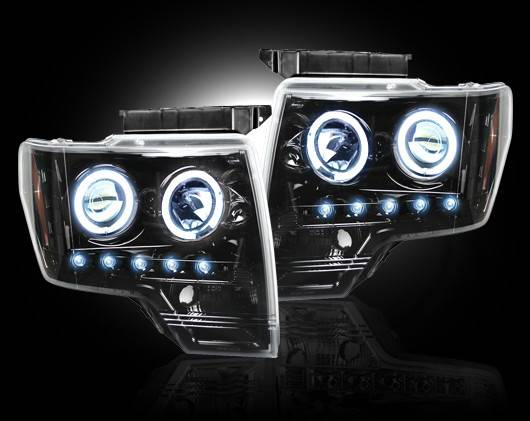Ford F 150 Amp Raptor 2009 14 Recon Smoked Headlights W