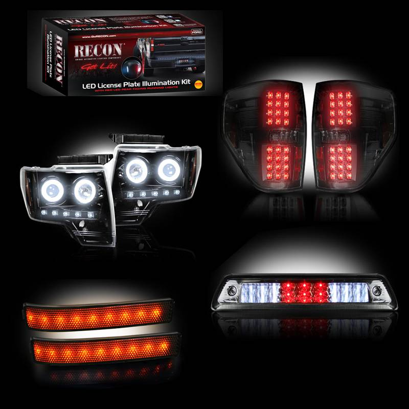 Recon Ford F   Recon Smoked Headlights W