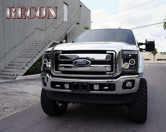 ford superduty f 250 to f 550 2011 16 recon smoked headlights w