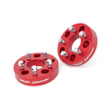 Rough Country - Rough Country 5x5 to 5x4.5 Adapters (Red) | 2007-2018 Jeep Wrangler JK