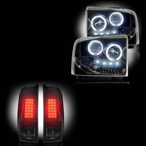 RECON - Ford Superduty F-250 to F-550 2005-07 Recon Smoked Headlights & Tail Lights Lighting Package