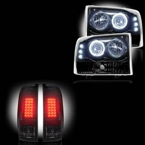 RECON - Ford Superduty F-250 to F-550 1999-04 Recon Smoked Headlights & Tail Lights Lighting Package
